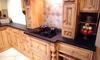 Antique Black Granite completes this pine kitchen
