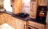 Antique Black Granite completes this pine kitchen